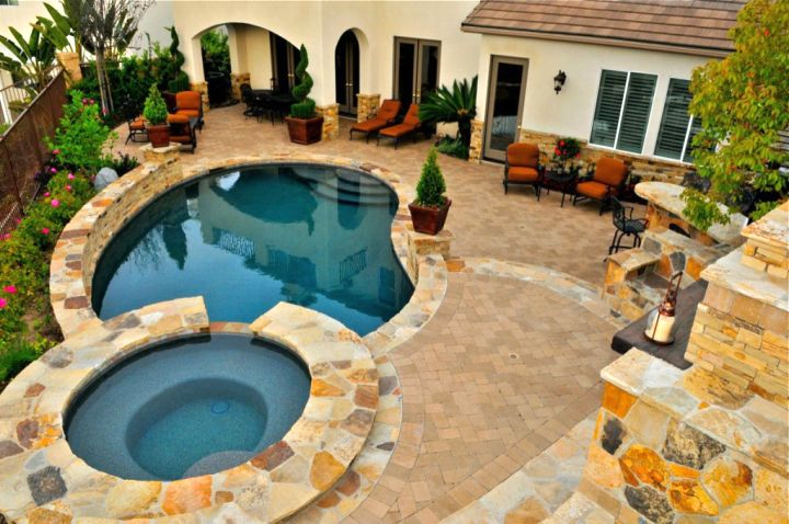 Backyard Pool Designs With Jacuzzi