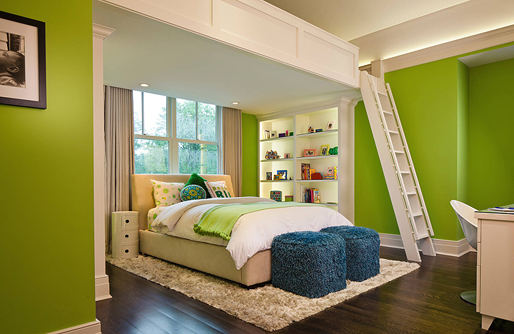 Modern Loft Beds for Adults with Twin Chair