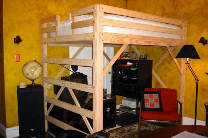15 modern designs of adult loft bed with stairs and desk. Black Bedroom Furniture Sets. Home Design Ideas