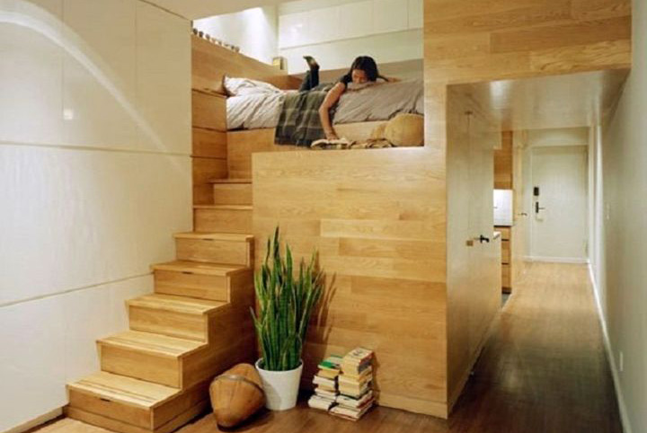 15 modern designs of adult loft bed with stairs and desk - Adult loft beds with stairs ...