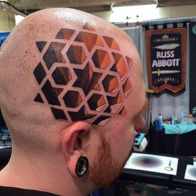 3d Tattoo on Head