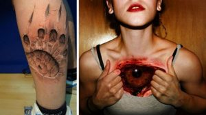 Animal Footprint 3D Tattoos