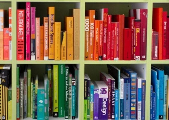 Books by Colour in Library