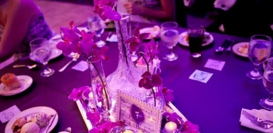 Purple Themed Party Table