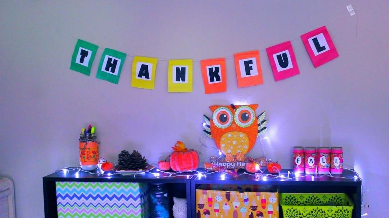 Thanksgiving DIY & Room Decor Ideas